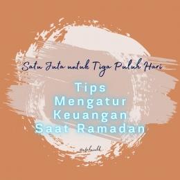 Keberhasilan mengatur keuangan di bulan Ramadan, diperlukan kerjasama dan komitmen dengan sesama anggota keluarga lainnya. Dok pribadi