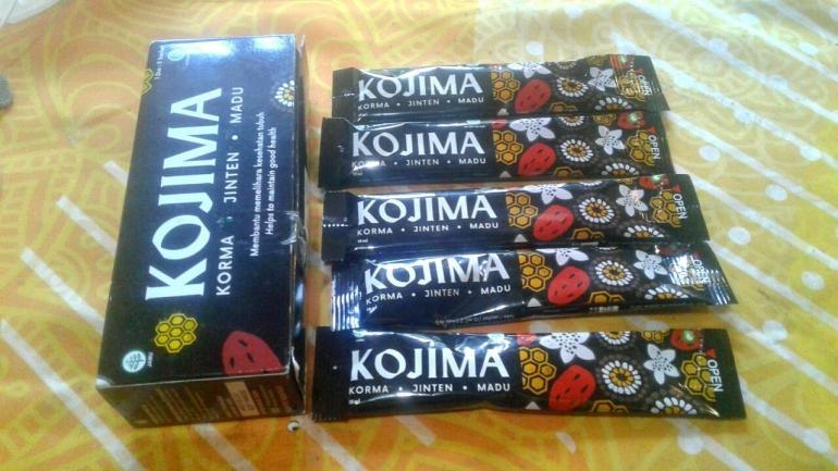 Madu Kojima kemasan stick pack isi 5 sachet/foto: samhudi