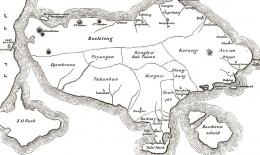 Pulau Bandit (Nusa Penida) di kanan bawah peta Bali. Sumber: www.nusapenida.org