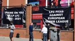 Penolakan Liga Super Eropa di Anfield (liverpooecho.co.uk)