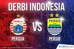 Persija vs Persib sebagai Derbi Indonesia, Sumber gambar: Kompas.com (Foto: ANTARA FOTO/Akbar Nugroho Gumay, Fernandi Randy/Bola/Juara.net)