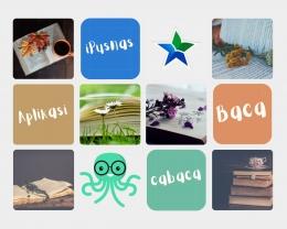 Aplikasi iPusnas dan Cabaca (as apk playstore; canva: edit)