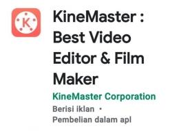 Screenshot aplikasi Kine Master dari Playstore