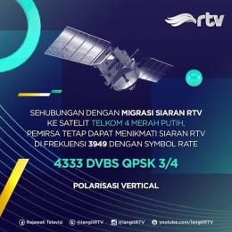 Penjelasan tentang error yang terjadi pada siaran. Namun pesan ini bukan diambil via siaran televisi, tapi diunggah ke media sosial. Sumber: facebook RTV.