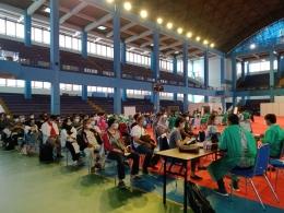 Proses vaksin tahap 1 seniman Bandung, difasilitasi UPI Bandung.