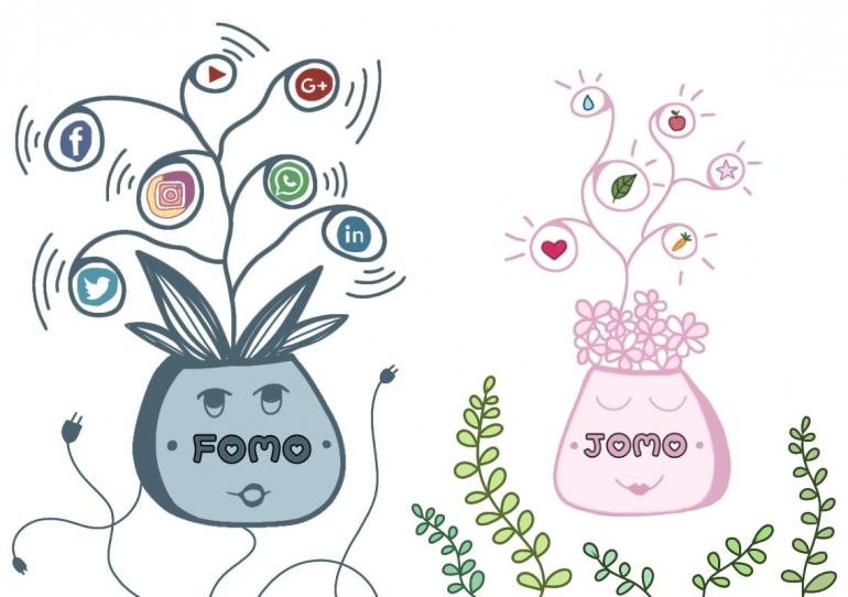 FOMO vs JOMO - Ilustrasi oleh N. Setia Pertiwi