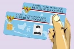 Ilustrasi KTP - Sumber: Indonesia.go.id