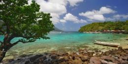 Lokasi snorkeling di Pulau Rubiah. Sumber: koleksi pribadi