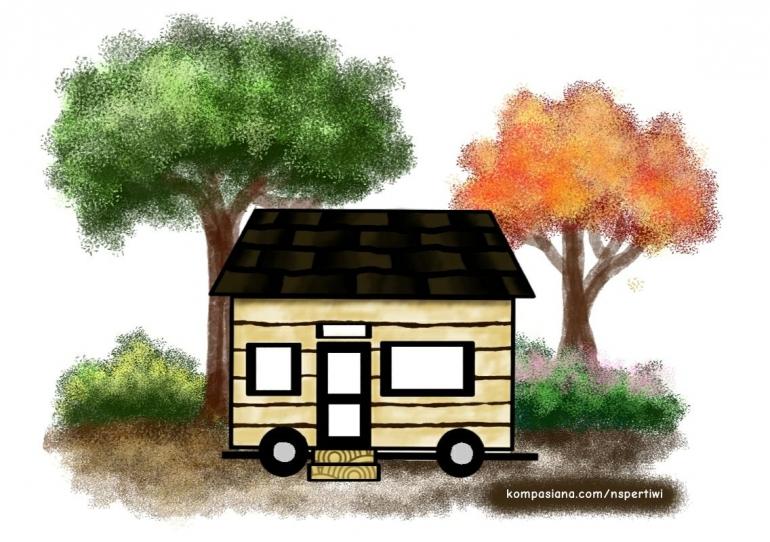 Tiny House - Ilutrasi oleh N. Setia Pertiwi