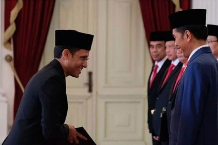 Kejelian Jokowi memilih Nadiem untuk menahkodai Kementerian Baru. Grid.id