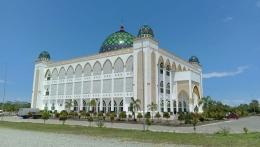 Masjid Agung Al Ikhlas Penajam Paser Utara, Tampak Dari Samping Kanan (Dokpri @AMS99)
