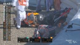 Marc Marquez alami crash kembali usai absen hampir setahun. Sumber : Moto GP