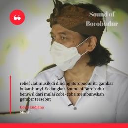 Dewa Budjana mengartikan Sound of Borobudur I Sumber Foto : Youtube Ganjar Pranowo