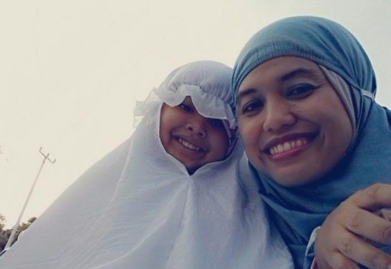 Saya dan si anak perempuan.   Dokumentasi Pribadi