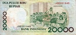 Kegiatan belajar pada uang kertas Rp20.000 (Dokpri)