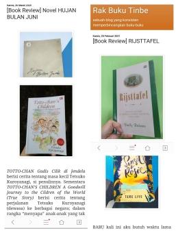 Kolase buku-buku yang saya ulas di blog (Dokpri)