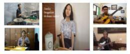 Kolaborasi band virtual perwakilan tenaga pendidik dan peserta didik di SMP Marsudirini Bogor (tangkapan layar)
