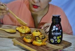 Saya sedang meneteskan Kojima sebagai topping untuk croissant./Dokpri