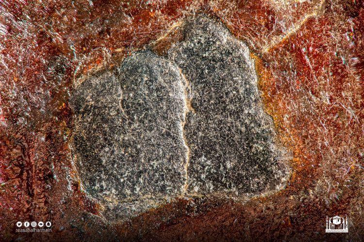 Foto close-up beresolusi tinggi dari Hajar Aswad (kompas.com)