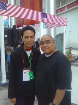 Foto bersama Saykoji di acara Pesta Blogger 2010 (Dok. Pribadi)