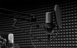 Pop Filter, yang juga dapat berfungsi sebagai penjaga jarak antara bibir dengan microphone. (sumber: guitarsquartz.net)