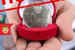 Koin 10 M postingan Bank Indonesia (Foto: IG Bank Indonesia)