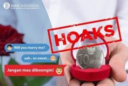 Koin 10 M yang ternyata hoaks (Foto: IG Bank Indonesia)