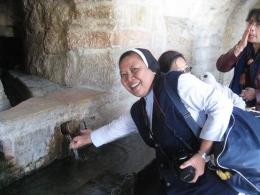 Sumber air Maria tempat ketika bunda Maria meminum air ini menuju rumah Elisabeth (dok pribadi)