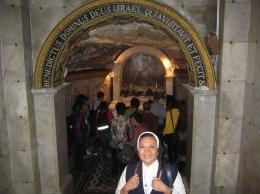 Tempat dimana Yohanes Pembaptis dilahirkan ada didalam ruang bawah tanah didalam gereja (dok pribadi)
