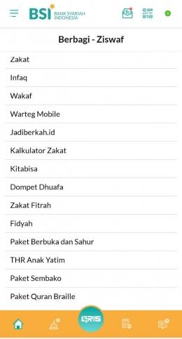 Tangkapan layar mobile banking BSI (Sumber: Dokumen Pribadi)