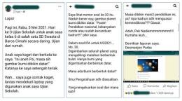 Tangkapan layar status Facebook yang menjadi viral lantaran isi soal bumi berbentuk datar