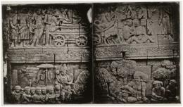 Foto 3: Foto Relief Borobudur karya Adolf Schaefer (1845) | Ilustrasi via soundofborobudur.org