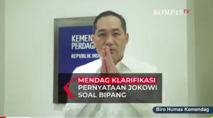 Mendag berbicara tentang Bipang setelah viralnya mendapatkan makanan khas daerah via online dan menyebut bipang (screenshot youtube Kompas TV)