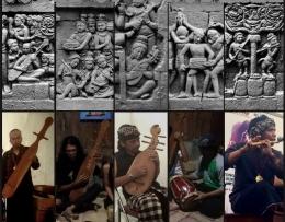 Beberapa peralatan musik yang berhasil direka cipta yang bersumber pada relief Candi Borobudur