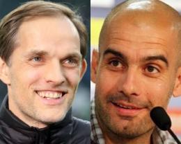 Kolase foto pelatih Chelsea, Thomas Tuchel dan pelatih Manchester City, Pep Guardiola. /Twitter/@ThomasTuchelOfficial/@PepGuardiola/Sumber:priangantimur.com