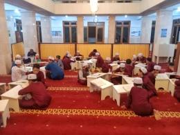 Suasana tadarus bersama santri Pondok Tahsin & Tahfidz Nailun Hamam (dokpri)