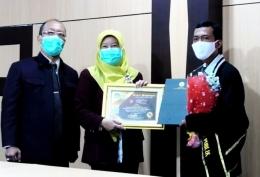 Foto pada saat pelepasan Mahasiswa Pascasarjana Untirta 2020 (Dokpri)