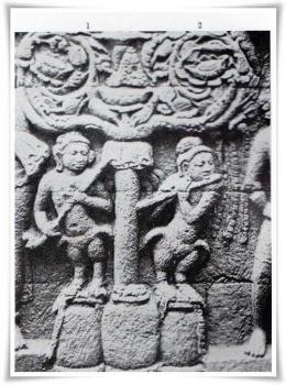 Alat musik yang digambarkan di relief Borobudur (tribun. manado. tribunnews.com)