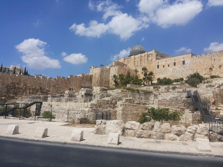 Kota Yerusalem dilihat dari luar tembok - dokpri