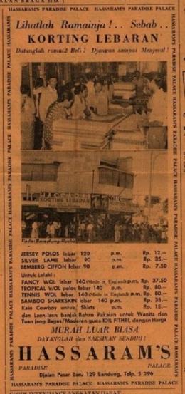 Iklan Korting Lebarn di Pikiran Rakjat 11 Juni 1952-Foto: Dokumentasi Pribadi/Repro Koleksi Perpustakaan Nasional Salemba.