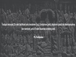 Alat-alat musik dalam relief Borobudur (dok: website Sound of Borobudur Movement)