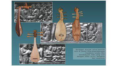 Replika alat musik dari relief Candi Borobudur (Dokumen SoundofBorobudur.org)