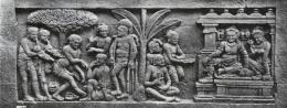 Ilustrasi relief yang ada di Candi Borobudur (sumber: kebudayaan.kemdikbud.go.id)
