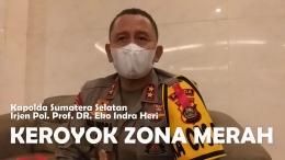 Kapolda Sumatera Selatan mengerahkan jajaran Polri hingga ke lini paling bawah, untuk mengedukasi warga dalam menangani Covid-19. Foto: isson khairul