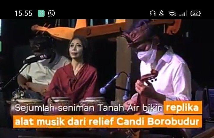 Tangkapan layar penampilan Sound of Borobudur dari YouTube Kominfo Jateng (dokumen pribadi)