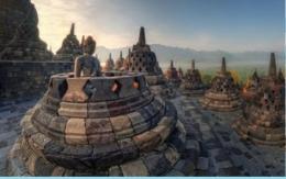 Stupa dan arca buddha di Candi Borobudur (Sumber shutterstock)