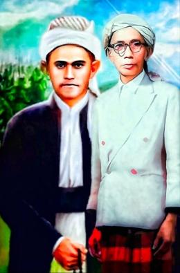 Lukisan Pendiri Al-Khairiyah Brigjen KH. Syamun dan KH. Ali Jaya /Dok. Humas Al-Khairiyah