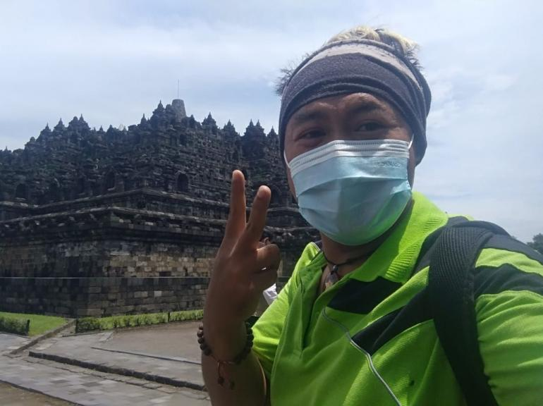 Saya di Borobudur (Dok.Pribadi)