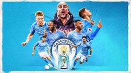Manchester City berhasil memastikan diri meraih trofi Liga Inggris. Sumber foto: Getty Images via Goal.com