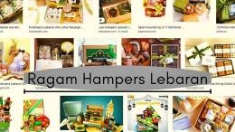 Ragam Hampers Lebaran, hasil googling dengan keyword 'Hampers Lebaran'. Olahan Pribadi di Canva & Photoscape | Dokpri